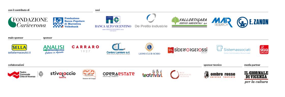 Soci, sponsor, collaborazioni Fondazione Teatro Civico Schio 2019-20